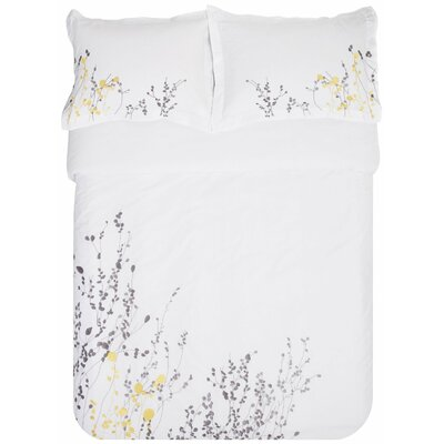 Reed 3 Piece Embroidered Reversible Duvet Set Size: Full/Queen