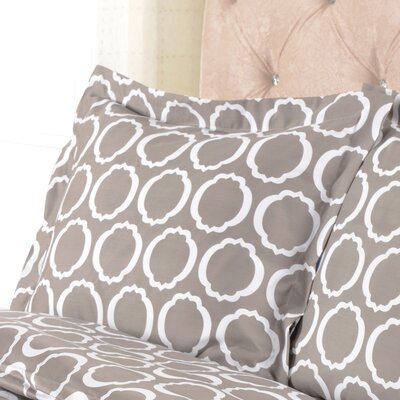 Scroll Park Cotton Rich 600 Thread Count Pillowcase Color: Grey/White, Size: Standard