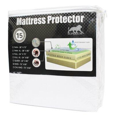 Simple Luxury Superior Hypoallergenic Waterproof Premium Mattress Protector - Size: Queen