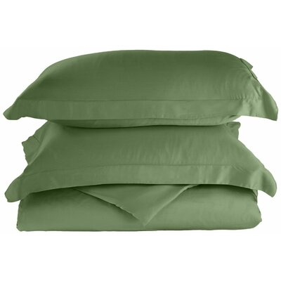 Rayon 3 Piece Reversible Duvet Cover Set Color: Sage, Size: King / California King