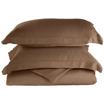 Rayon 3 Piece Reversible Duvet Cover Set Size: Full / Queen, Color: Taupe