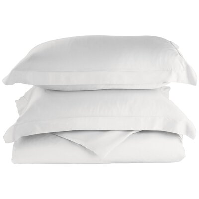 Rayon 3 Piece Reversible Duvet Cover Set Color: White, Size: King / California King