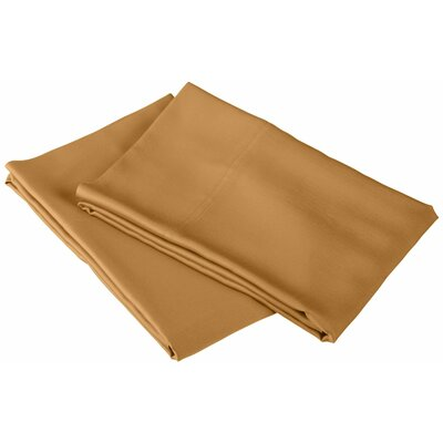 Rayon from Bamboo 300 Thread Count Pillowcase Color: Gold, Size: King