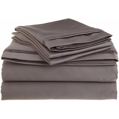 Tipton 1500 Thread Count 100% Egyptian-Quality Cotton Sheet Set Size: King, Color: Grey