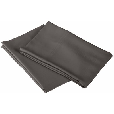 Emberto Pillow Case Color: Grey, Size: King