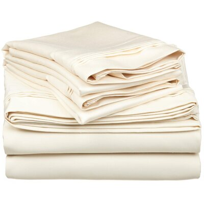 Tipton 1500 Thread Count 100% Egyptian-Quality Cotton Sheet Set Color: Ivory, Size: King