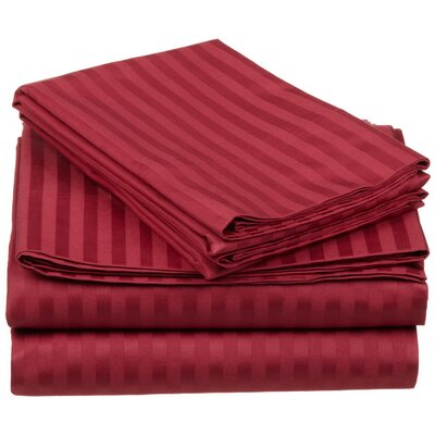 650 Thread Count Egyptian-Quality Cotton Sheet Set Color: Burgundy