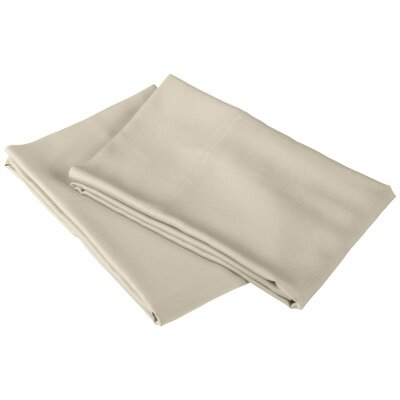 Emberto Pillow Case Color: Ivory, Size: Standard