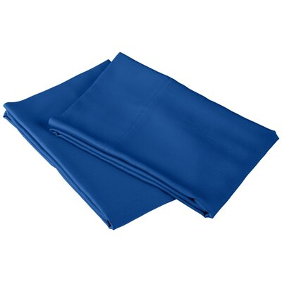 Emberto Pillow Case Color: Smoke Blue, Size: King