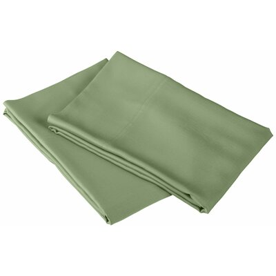 Rayon from Bamboo 300 Thread Count Pillowcase Color: Sage, Size: King