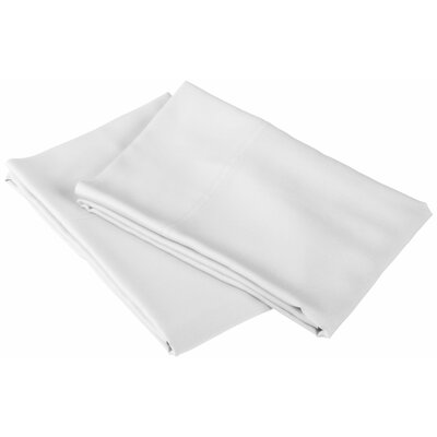Rayon from Bamboo 300 Thread Count Pillowcase Color: White, Size: Queen