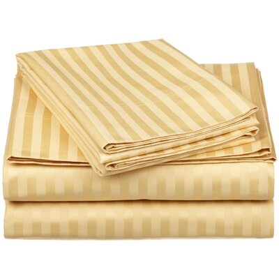650 Thread Count Egyptian-Quality Cotton Sheet Set Color: Gold