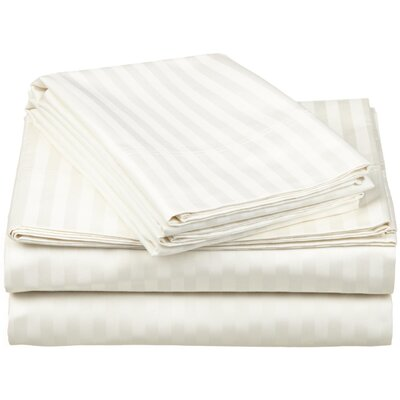 650 Thread Count Egyptian-Quality Cotton Sheet Set Color: Ivory