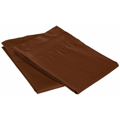 Superior Pillowcase Color: Chocolate, Size: Standard
