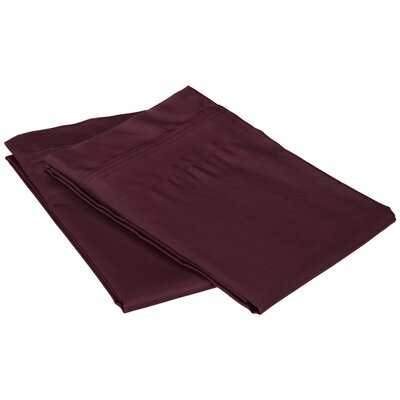 Superior Pillowcase Color: Plum, Size: Standard