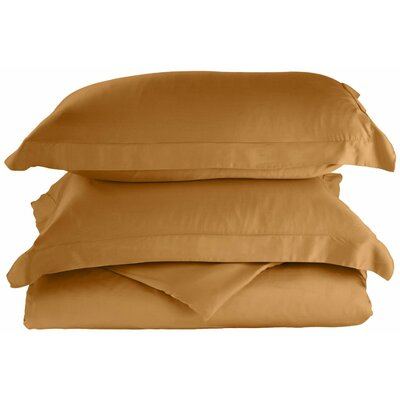 Rayon 3 Piece Reversible Duvet Cover Set Color: Gold, Size: King / California King