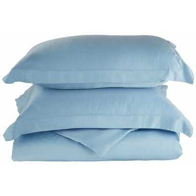 Rayon 3 Piece Reversible Duvet Cover Set Size: Full / Queen, Color: Light Blue