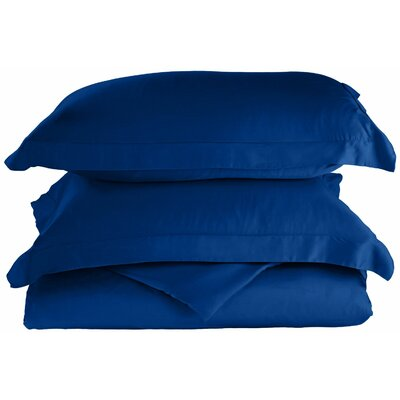 Rayon 3 Piece Reversible Duvet Cover Set Size: Full / Queen, Color: Smoke Blue