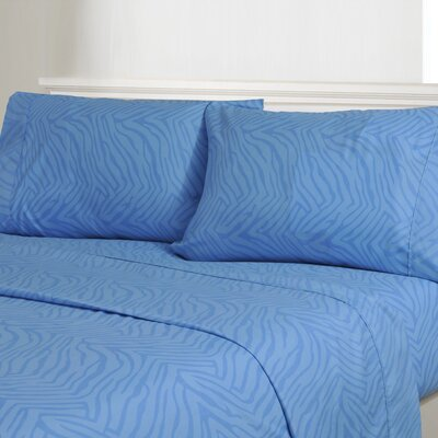 Impressions Microfiber Sheet Set Color: Light Blue, Size: Queen