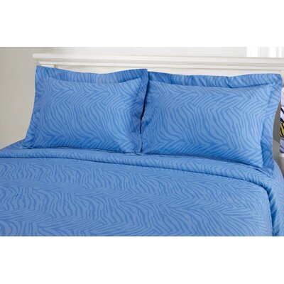 Impressions Reversible Duvet Cover Set Color: Light Blue, Size: King/California King
