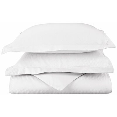 Micro Check 800 Thread Count Pillowcase Size: King, Color: White