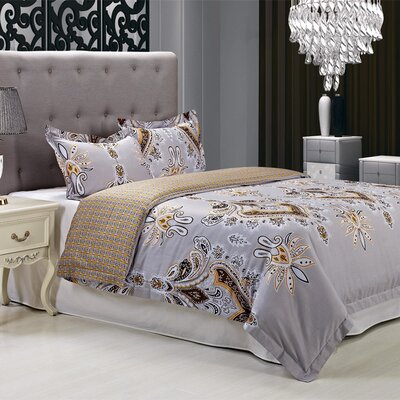 Garden 3 Piece Reversible Duvet Cover Set Size: King/California King