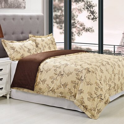 Woodhaven 3 Piece Reversible Duvet Cover Set Size: King/California King