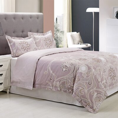 Vineyard 3 Piece Reversible Duvet Cover Set Size: King/California King