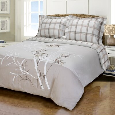 Elmwood 3 Piece Embroidered Reversible Duvet Cover Set Size: Full/Queen
