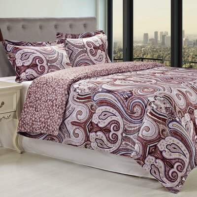 Waterloo 3 Piece Reversible Duvet Cover Set Size: Full/Queen