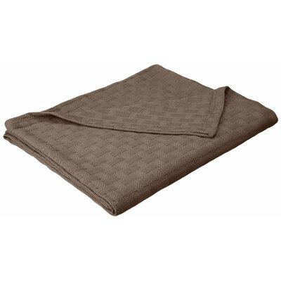 Stephen Basket Weave Cotton Blanket Size: Full / Queen, Color: Charcoal