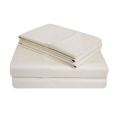 900 Thread Count 100% Cotton Sheet Set Size: Full, Color: Ivory