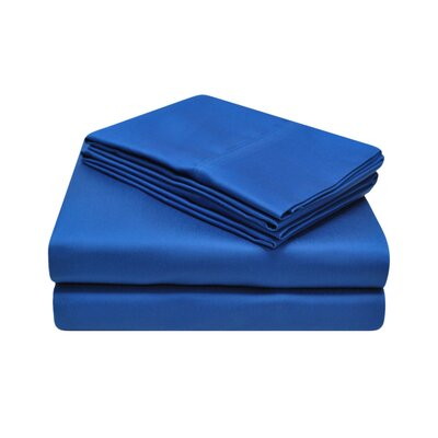 900 Thread Count 100% Cotton Sheet Set Color: Navy Blue, Size: Queen