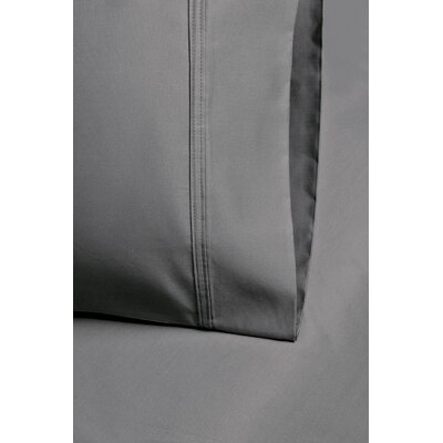 Enrico Cotton 1000 Thread Count Solid Pillowcase Size: Standard, Color: Charcoal
