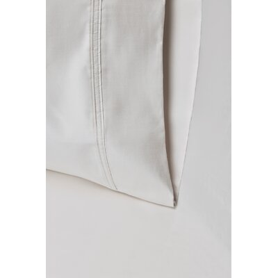 Enrico Cotton 1000 Thread Count Solid Pillowcase Size: King, Color: Ivory