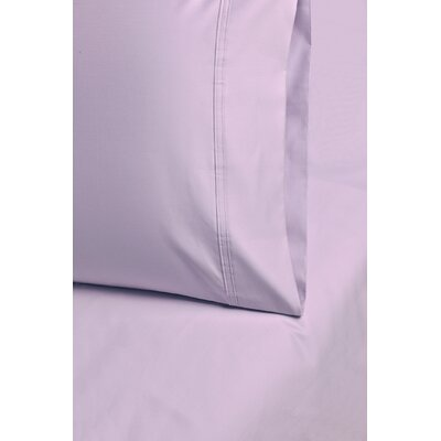 Enrico Cotton 1000 Thread Count Solid Pillowcase Size: King, Color: Lilac