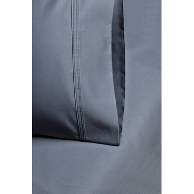 Cotton 1000 Thread Count Solid Pillowcase Size: King, Color: Medium Blue