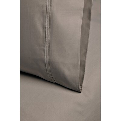 Cotton 1000 Thread Count Solid Pillowcase Size: King, Color: Taupe