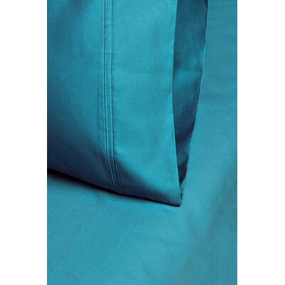 Cotton 1000 Thread Count Solid Pillowcase Color: Teal, Size: Standard