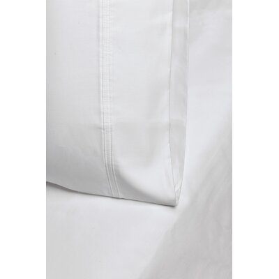 Enrico Cotton 1000 Thread Count Solid Pillowcase Size: King, Color: White