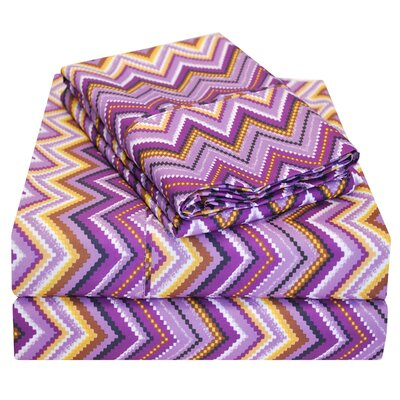 1800 Series Microfiber Sheet Set Size: Full, Color: Purple
