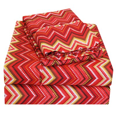 1800 Series Microfiber Sheet Set Color: Red, Size: Twin
