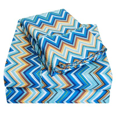 1800 Series Microfiber Sheet Set Color: Blue, Size: Twin XL