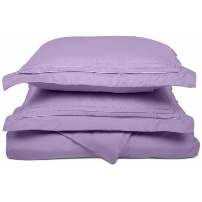 Heritage 3000 Series Embroidered Reversible Duvet Set Color: Lilac, Size: Full / Queen