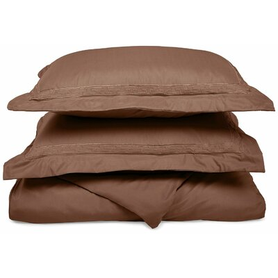 Garrick Embroidered Reversible Duvet Soft Set Size: Twin / Twin XL, Color: Taupe