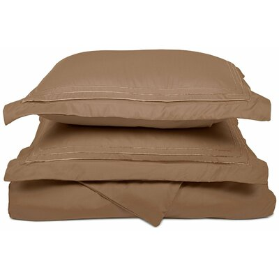 Heritage 3000 Series Embroidered Reversible Duvet Set Size: Twin / Twin XL, Color: Taupe