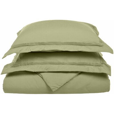 Garrick Reversible Duvet Set Color: Sage, Size: King / California King