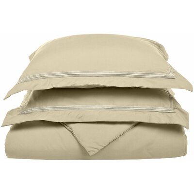 Garrick Reversible Duvet Set Size: Full / Queen, Color: Tan