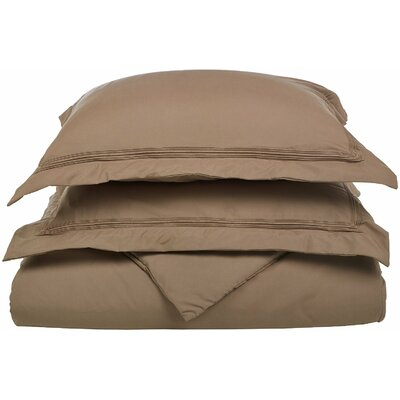 Garrick Reversible Duvet Set Color: Taupe, Size: King / California King