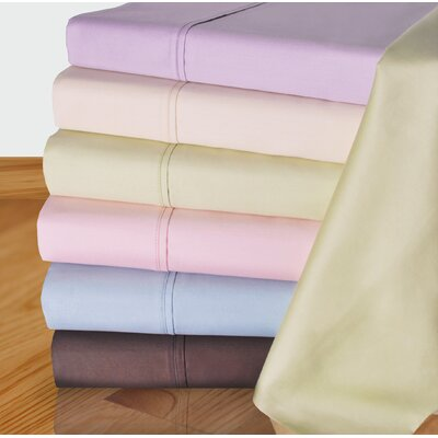 450 Thread Count Solid Pillowcase Size: King, Color: Ivory